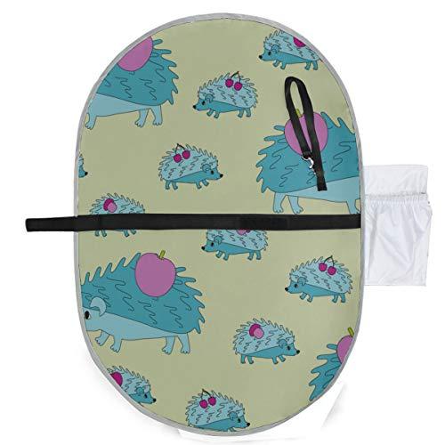 Bébé Portable Pad Imperméable Pliable Maman Hérisson Petits Hérissons Go Home Diaper Mat Tapis De Voyage Pratique Suspendu