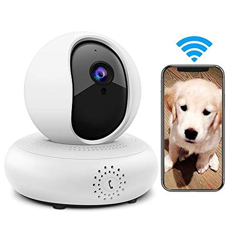 LEEFISH Draadloze Huisdier Camera, 1080P Hd Hd Monitor, Home Security Camera, Kat Surveilance, Bewegingsdetectie/Nachtzicht/Twee-weg Audio voor Baby/Hond/Cat