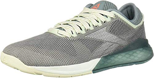 Reebok Women's Nano 9 Cross Trainer, Cool Shadow/Storm Glow/Silver, 7.5 M US