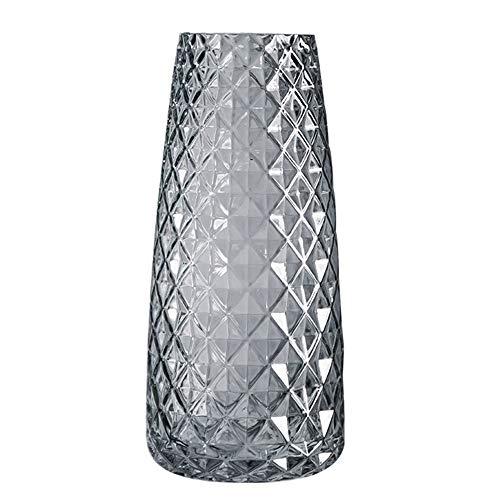 XUBX Vaso in Vetro, 21cm Vasi da Fiori, Vaso da Arredamento Moderno, Vaso Decorazione per Casa, Vaso di Fiori in Vetro, Geometrico Contenitore Fiori Decorazione Caraffa per Casa Ufficio