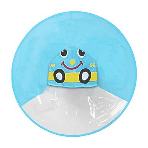 DEDEYUPI Wegwerp Regenjas Kinderen Regenjas Transparant UFO Regenjassen Handen Gratis Regen Poncho Baby Grappige Eend Regenjas Regen Cover Regenjas voor kinderen