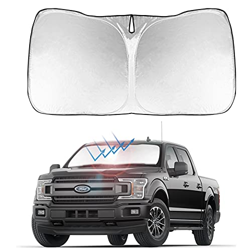 Front Windshield Sunshade Foldable Sun Shade Protector Custom Fit Ford F-150...