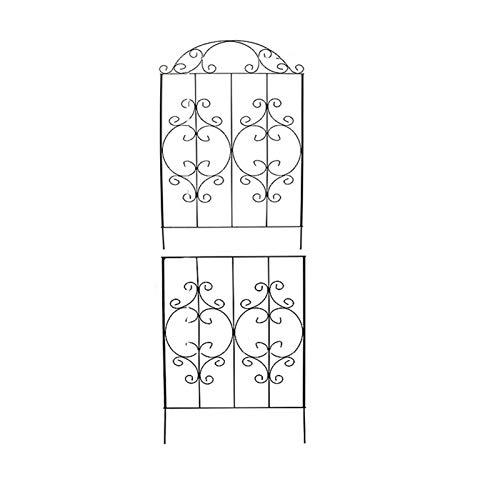 Garten-Gitter-Zaun-Panel, Garten Obelisk Reben Blumen Kletter Stände, Gartendekoration, für Rose Weinreben Gemüse Gurke Clematis,Schwarz