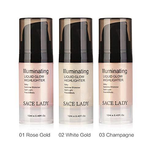 Hung Kai Liquid Glow Highlighter Lippen-Foundation, Schimmer-Creme, Gesichts-Bronzer Kontur-Kosmetik