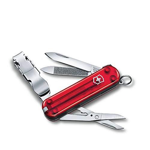 Victorinox Nagelknipser Nail Clip 580 (8 Funktionen, Nagelknipser, Schere) rot transparent