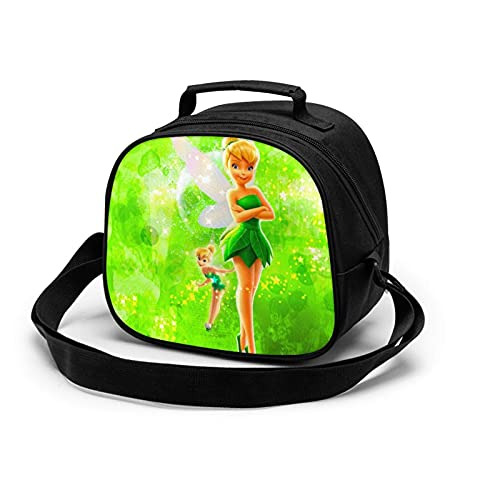 Tinker Bell Green Cute Lunch Box Bag for Kids Boys and Girls Insulated Water Resistant Children's Meal Bag for Paing Hot Cold or Fresh Food for School & Travel, BPAfree, Food Safe