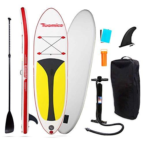 WEIFAN Sup Inflable Stand Up Paddle Board Bomba Manual De Doble CáMara Mochila De Viaje con Ruedas Correa De Tobillo De Seguridad para Todos Los Niveles De Habilidad