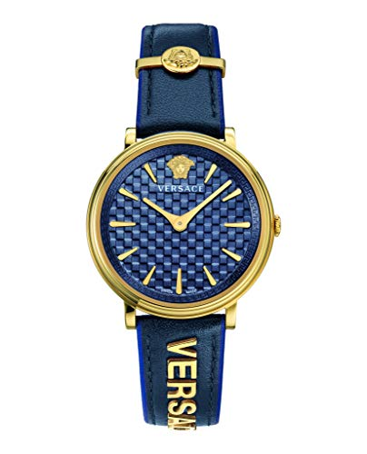 VERSACE V Circle DAMENUHR 38 D/BLU S/BLU IP1N Blue Strap BLU SIDE/IP1N Parts VE81012 19