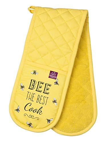 Engels servies bedrijf bij gelukkig dubbele oven handschoenen gauntlet wanten - bij gelukkig bereik