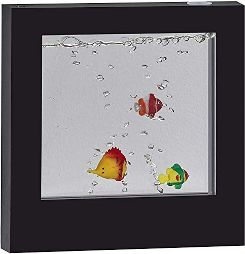 Adesso SL3981-01 Simplee Novelty Multi-Color LED Mood Box for Table or Hanging Mount, Gallery Wall Lighting, Decorative Fish Aquarium, 8 Feet, Black Frame