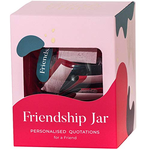 Love and Friendship Jar with 31 Quotations for Friend, Sister and Others for Birthday Christmas Valentin's Day - All Quotes are Positive and Motivating. They Create Joyful Mood Here and Now