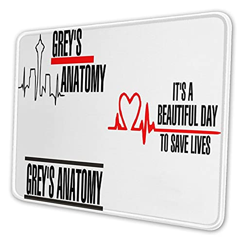 Greys Anatomy Mouse Pad Non-Slip Rubber Base Mousepad for Computers Laptop Office Desk 8.3 X 10.3 in