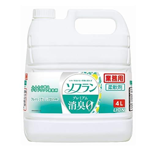 【業務用 大容量】ソフランプレミアム消臭 柔軟剤 フレッシュグリーンアロマの香り 4L