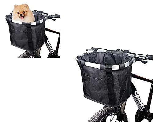 Ysislybin Cestino anteriore per cane/spesa/pendolo/tenda, cestino multiuso rimovibile per bicicletta, manubrio della bicicletta, cestino per manubrio