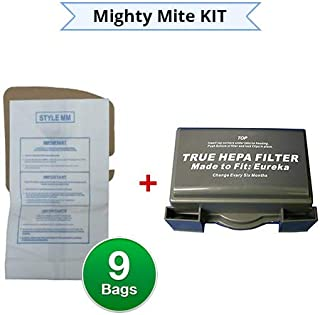 EnviroCare Replacement Vacuum Bags for Eureka Style MM Eureka Mighty Mite 3670 and 3680 Series Canisters with Kit