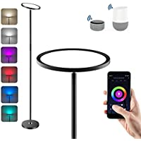 Anten LED Lámpara de Pie Regulable, WiFi Inteligente Luz de Pie Salon Multicolor Funciona Compatible Alexa/Google Home, 25W RGB Regulable y Blanco Cálido a Frío