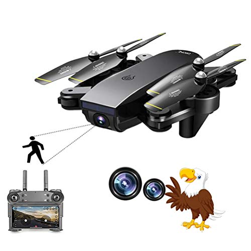 WXFXBKJ HD 1080P/720P Best WiFi FPV RC Drone 4K with Dual Camera 50x Zoom Selfie Professional Foldable Optical Flow Quadcopter Helicopter (Color : Without Camera)
