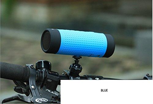 Kwdzlighting Bluetooth-luidspreker, waterdicht, schokbestendig, reizender, bluetooth, waterdicht, met zaklamp 3 W en gegolfde audio Bluetooth 4.0 met ingebouwde luidspreker, microfoon