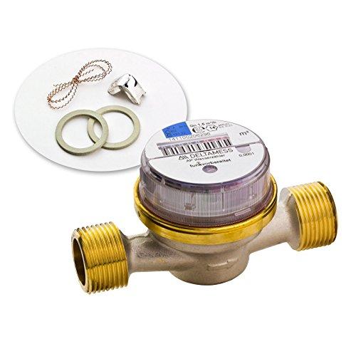 Zähler Verschraubungszähler geeichter Wasserzähler Wasseruhr DELTA AP Funk-V 3/4' x 130 mm - kalt Kaltwasser