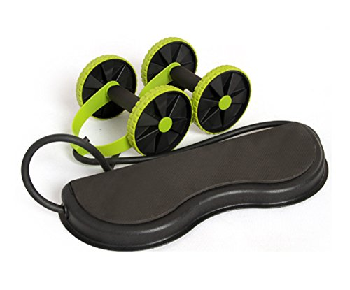 Home Health addominale Wheel AB roller con mute tensione corda Portable Home fitness Round Wheel