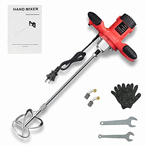 ANBULL 2100W Electric Handheld Concrete Mixer, Portable Cement Mixer Mortar Plaster Paint Fodder Stirring Tool, Adjustable 6 Speed 110V