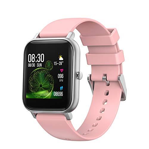 BingoFit Smartwatch Fitness Tracker, 1,4 Zoll Touchscreen Armbanduhr mit Pulsmesser, Schrittzähler, Schlafmonitor, Call Erinnerung, Wasserdicht Aktivitätstracker Sportuhr für Herren Damen iOS Android