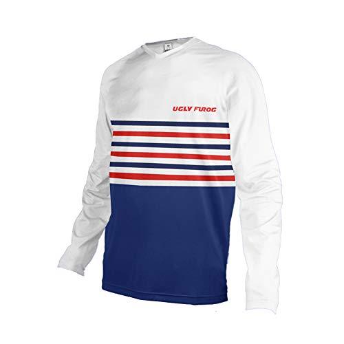 Uglyfrog 2020 Sport Cycling Element MX Jersey Enduro Cross Motorrad Motocross/MTB/Mountain Bike Wear Downhill Rundhals Shirt Herren Thermo Winter Sports Wear DEHerDownMKZR03