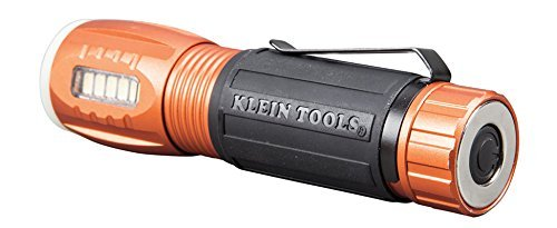 Klein Tools 56028 LED 235 Lumen Flashlight and 100 Lumen Work Light, Durable Waterproof, Hands-free Magnetic, Up to 12 Hours Run Time