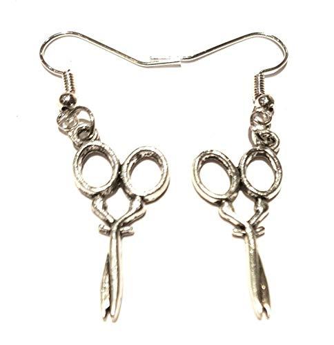 Silver Knight - Orecchini a forma di forbice, in argento sterling, con gancio in argento Sterling, in confezione regalo
