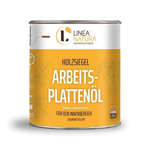 LINEA NATURA® Areitsplattenöl | Möbelöl | Treppenöl | Holzöl natürlich matt (1L)