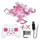 Mini Drone pour Enfants, Quadricoptère Rose, Avion RC Portable 2.4Ghz WiFi, Mode...