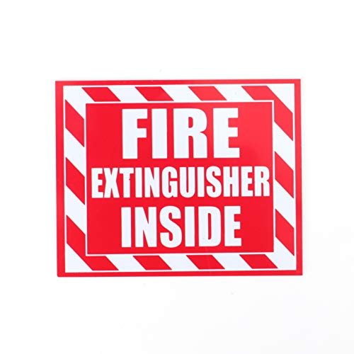 Fasmov 10 Pack Fire Extinguisher Inside Sticker Self -5
