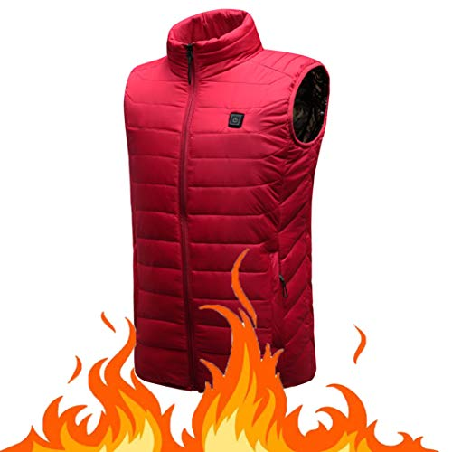 OUTANY Women es Heated Vest, Winter Outdoor Sport Warm Insulated Vest Rechargeable Windproof USB,M