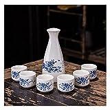 YUJIADIAN Juego de Caza y Copa de cerámica Caliente y fría, Flask Eco  Friendly Creative Great para el Bar japonés o los restaurantes de Sushi, Decorativos Que Ponen el Conjunto en el Mesa 0710