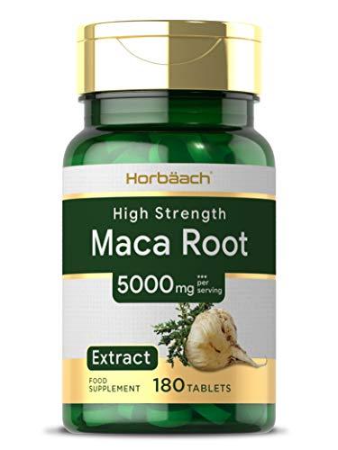 Maca Root 5000mg | 180 Vegan Tablets | High Strength Peruvian Maca | Non-GMO, Gluten Free Supplement