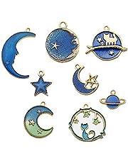 متنوعة المينا سحر لصنع المجوهرات القمر ستار رائد فضاء قلادة سحر للسوار