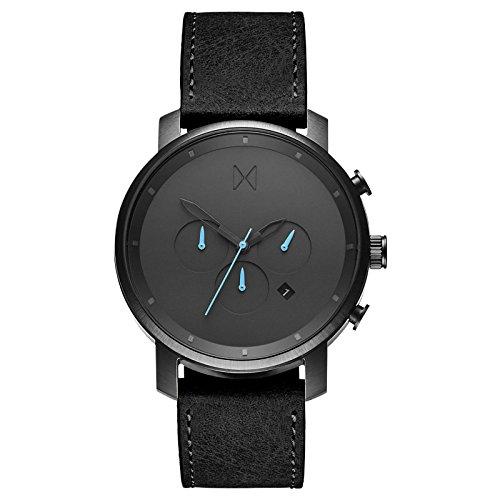 MVMT Chrono Gunmetal Black Herren Uhr Armbanduhr Leder MC01-GUBL