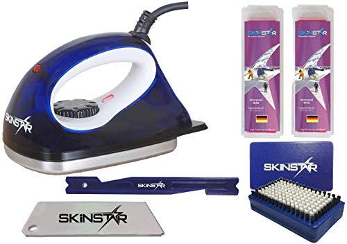 SkinStar Einsteiger Set Langlauf LL Skiwachs-Set Wachsbügeleisen 6-teilig