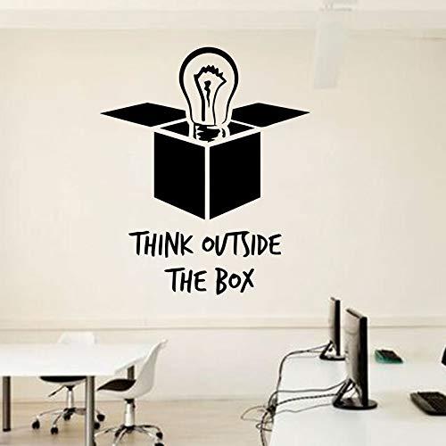 Tianpengyuanshuai gloeilamp vinyl sticker buiten kantoor wandtattoos inspirerend citaat