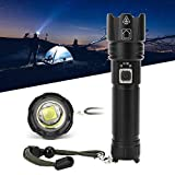 NATRUSS USB Charging High Brightness Durable LED Flashlight, Torch, Good Light Transmission for Outdoor Camping(Black)