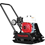 TOMAHAWK 5.5 HP Honda Vibratory Plate Compactor Tamper for Dirt, Asphalt, Gravel, Soil Compaction with GX160...