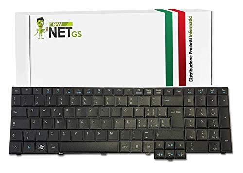 Tastiera italiana per 9Z.N6SSQ.00E AZ0SQ | KB.I170A.337 compatibile con i seguenti Notebook Acer TravelMate P653-V, TimelineX 8573, TimelineX 8573T, TimelineX 8573G, TimelineX 8573TG, 5760, 5760G