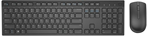 Dell 580-ADFW Wireless Keyboard and Mouse-KM636 -US International English Layout (QWERTY) - Black