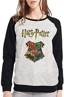 Moletom Raglan Criativa Urbana Harry Potter Hogwarts Casaco Blusa - Feminino