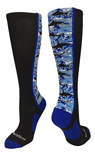 MadSportsStuff Digital Camo Shark Socken Over The Wade, Jungen, Schwarz/Blau/Weiß, Medium