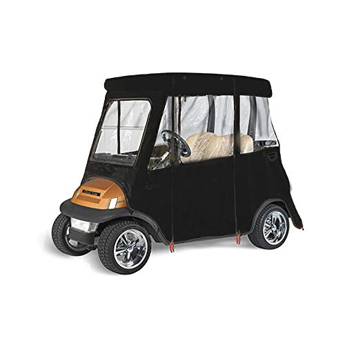 GreenLine Club Car Precedent Golf Cart Enclosure by Eevelle, 2 Passenger Drivable, Heavy Duty Vinyl Backed 300D