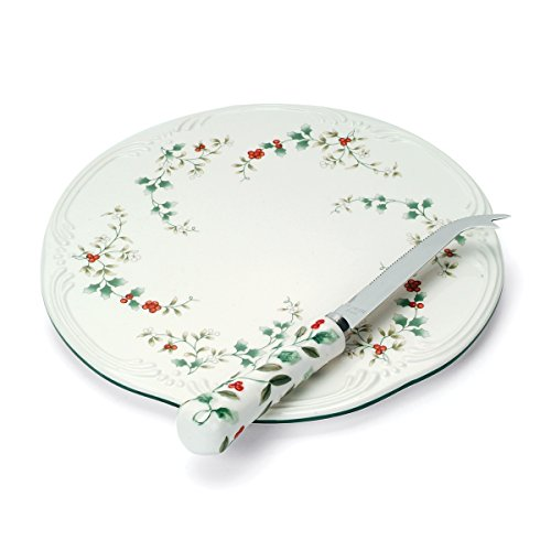 Pfaltzgraff Winterberry Cheese Tray With Slicer, Assorted