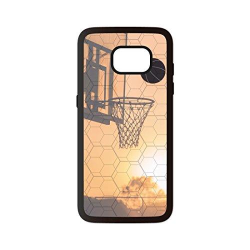 PHONECASES3D Funda móvil Baloncesto Canasta Compatible con Compatible con Samsung Galaxy S7. Carcasa de TPUde Alta protección. Funda Antideslizante, Anti choques y caídas.