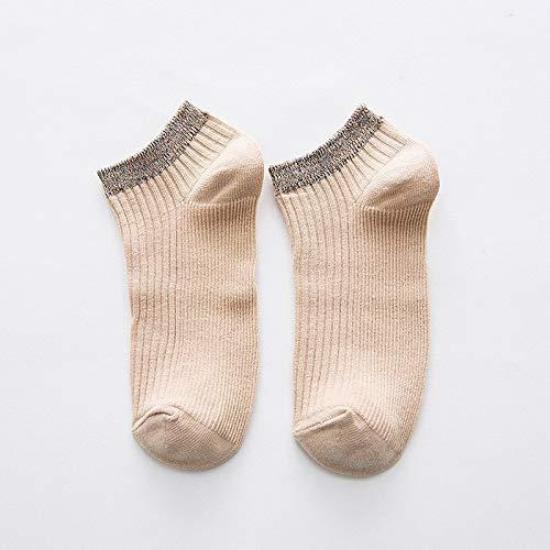 Alvnd 3 Pairs of Socks Women's Solid Color Cotton Socks Summer Short Socks Solid Color Wild Socks (Color : G, Size : 4-7 UK/35-40 EU)