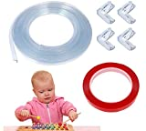 Corner Guards Baby Proof,KIDDYz Furniture Edge Corner Protector Clear Soft Silicone Table Corners Protection Child Safety Kit Bumper Strip 20ft(6m) Toddler Corner Protector(4 Pack)